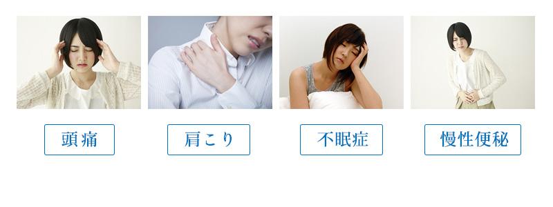 頭痛・肩こり・不眠症・慢性便秘の緩解に効果があります。